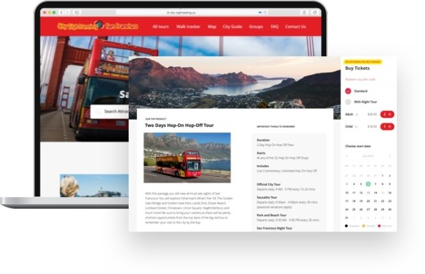 online booking system powered by Ventrata