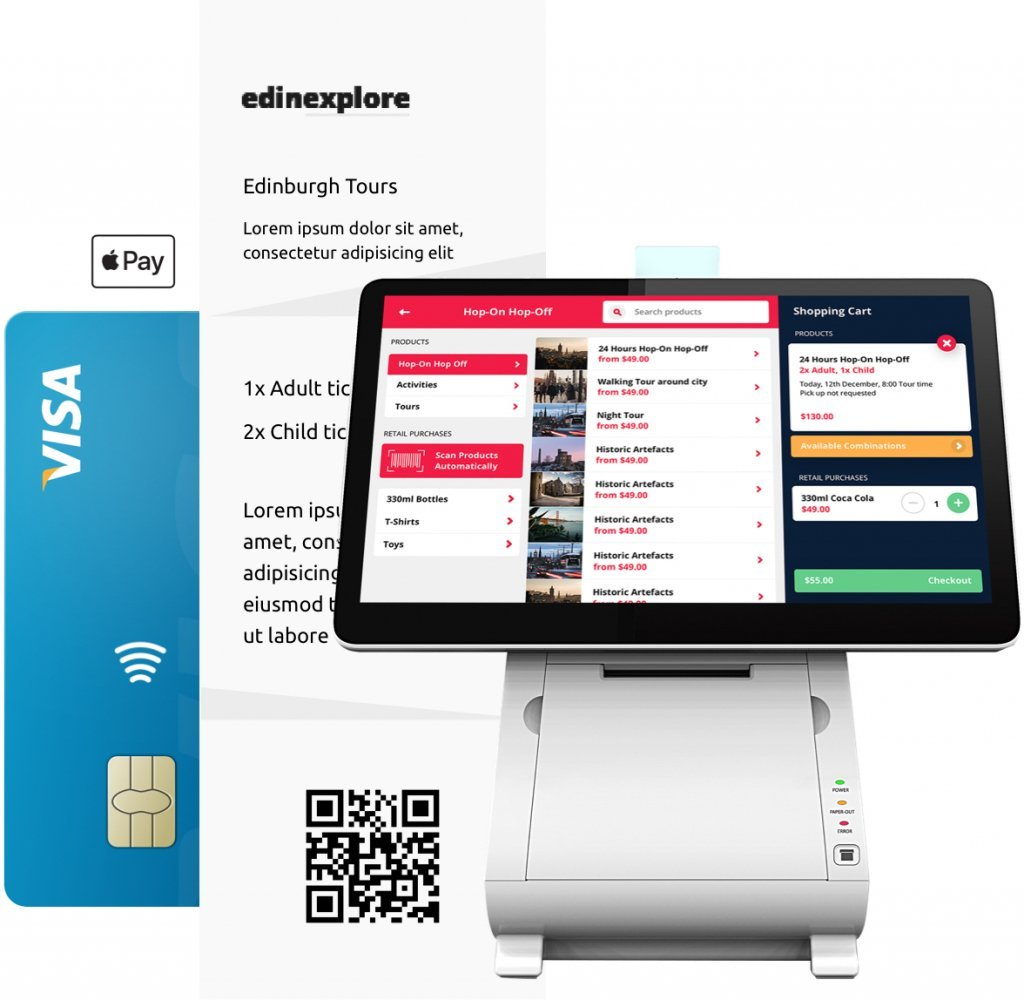 Booking system devices for all sales locations